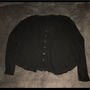 Urban Outfitters Long Sleeve Black Button Down